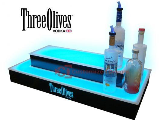 Three Olives Vodka 2 Tier 2 Sided Island Display