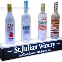 1 Tier Wine Bottle Glorifier w/ Logo