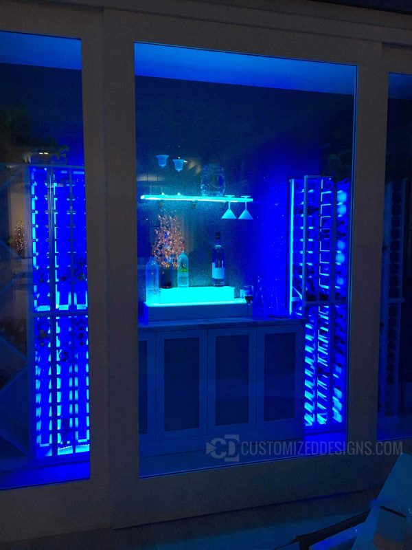 Home Wine Cellar w/ LED Lighted Shelving