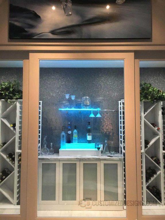 Home Wine Cellar w/ Wine Glass Shelving