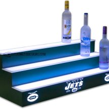 New York Jets Liquor Display w/ Hunter Green Finish