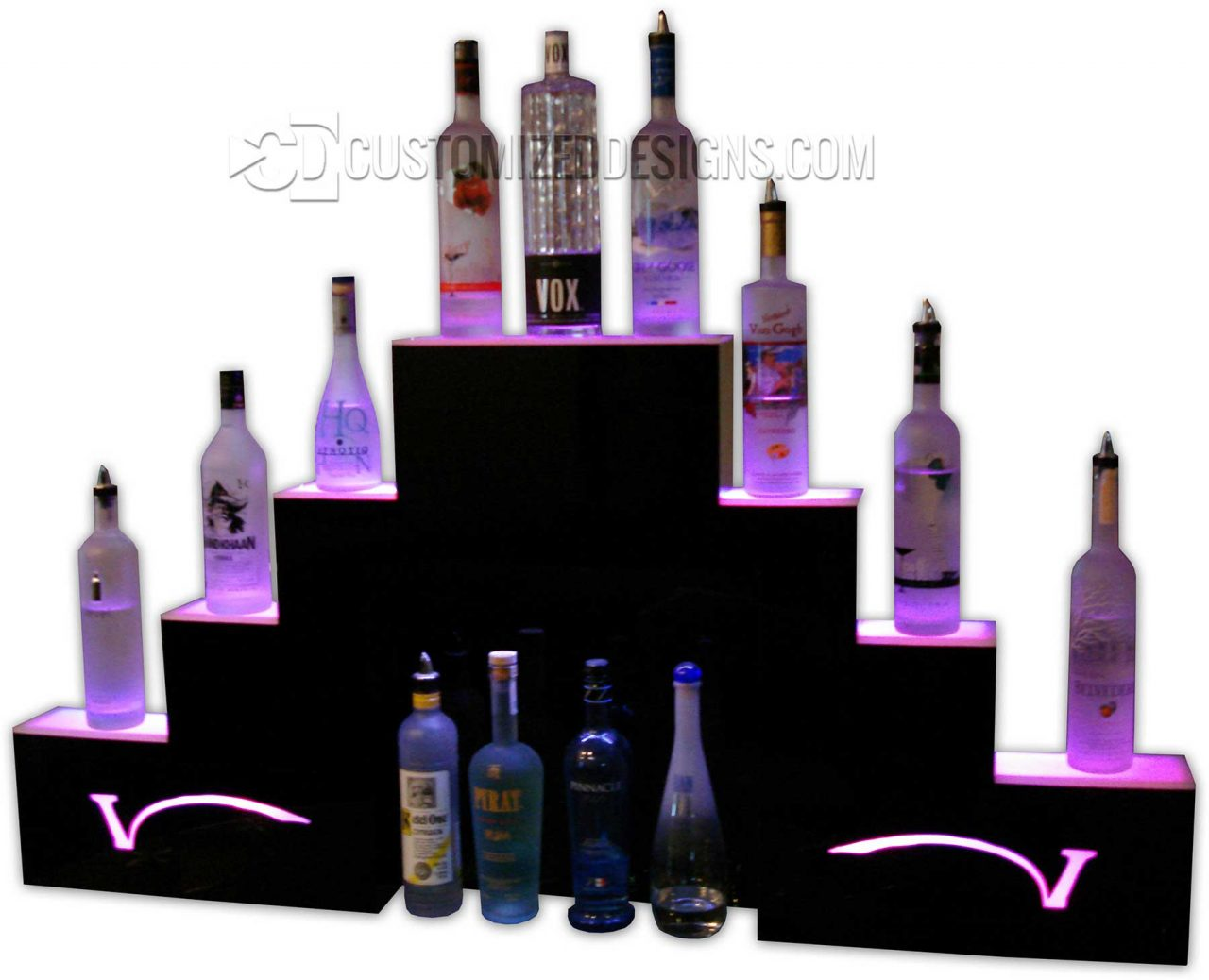 Custom Pyramid Style Display w/ V Logos