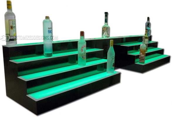 4 Tier Lighted Bottle Display w/ POS System Opening