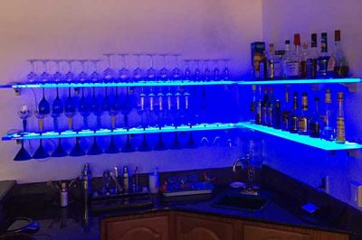 LED Wine Glass Rack Shelving