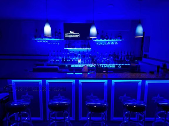 Code Blue Dallas Cowboys Home Bar