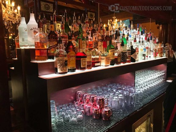 Commercial Back Bar w/ Storage for Glassware