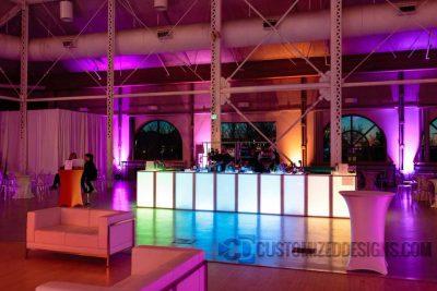 Modular LED Lighted Event Bar