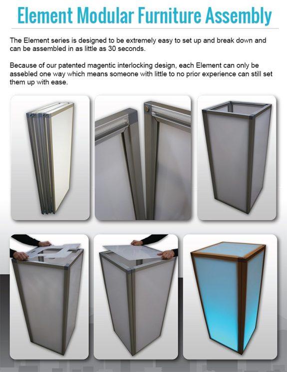 Element Modular Event Furniture Assembly