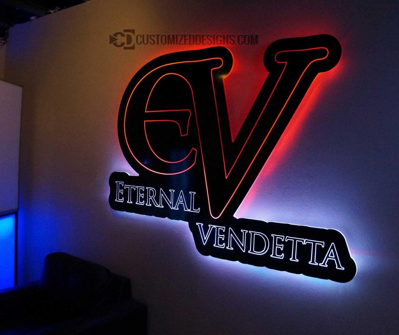 Eternal Vendetta Lighted Sign