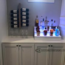 Home Bar Shelves - 3 Tier - White Finish