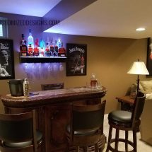 Mobster Themed Home Bar
