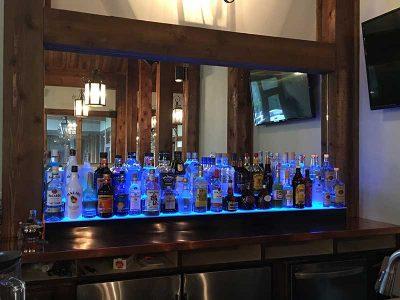 2 Step LED Lighted Liquor Displays