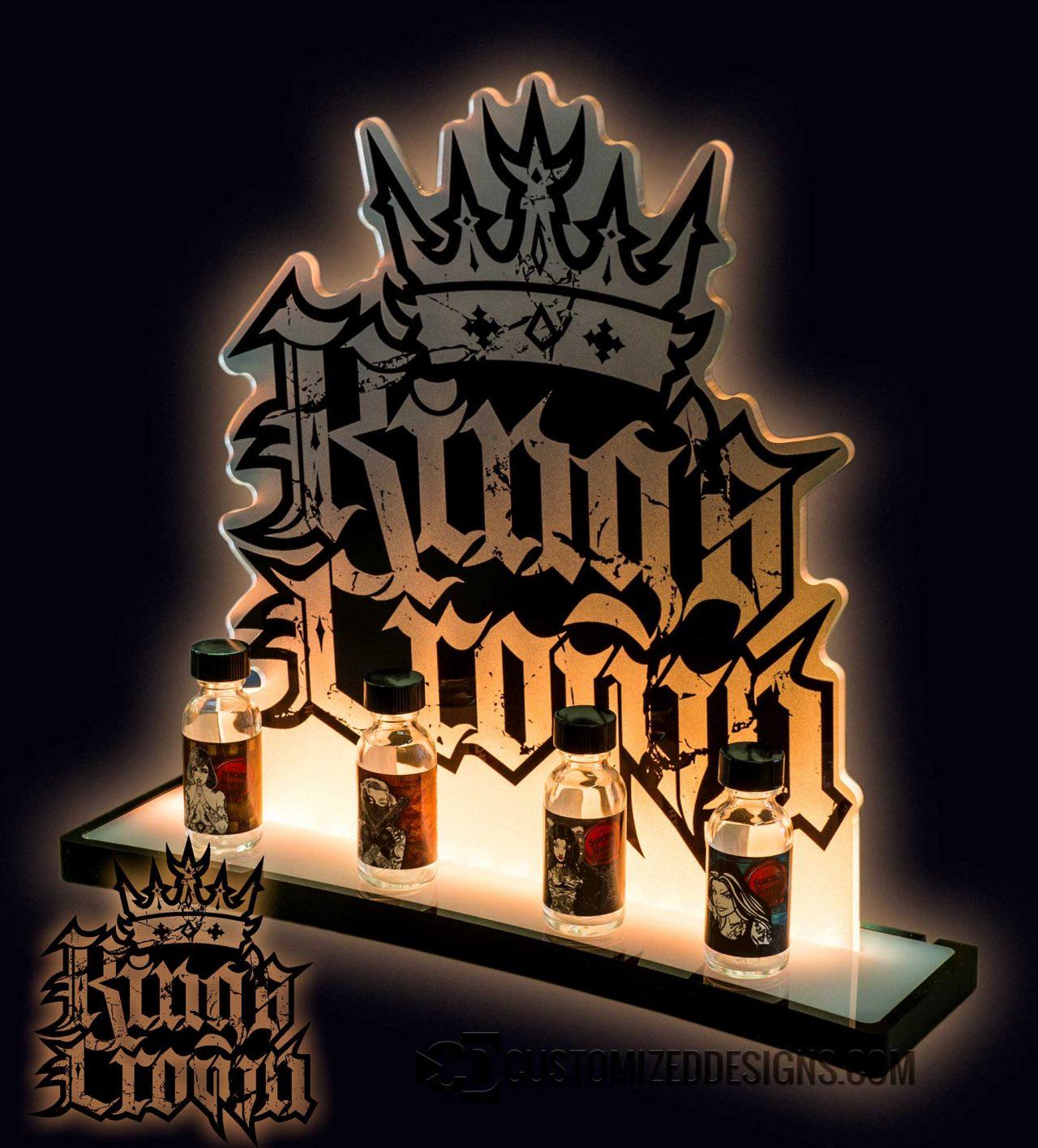 Kings Crown Vape Bottle Glorifier Display
