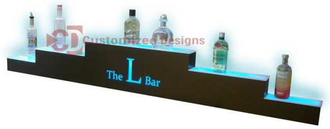 3 Tier Pyramid Style Bottle Display