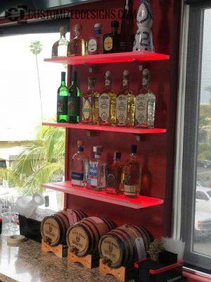 LED Wine Glass Bar Shelving - No Wine Glasses
