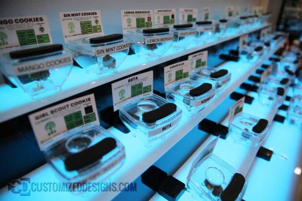 Cannabis Display Shelving