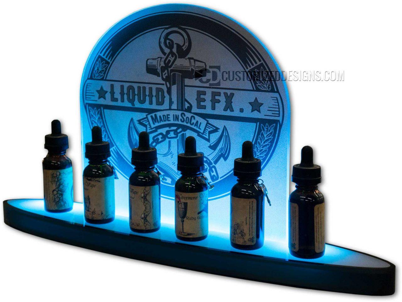 Liquid EFX Vape Bottle Display w/ LED Lighting
