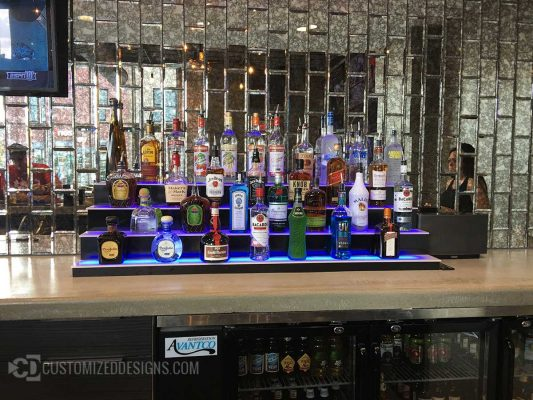 Lighted Commercial Liquor Display
