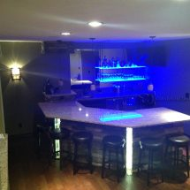 Suspended LED Shelves